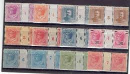 TP MONACO - DE 1924 - MILLESIMES - N° 78/80/82/83/91/93/94/95/106x2/110- NEUFS** Sans Charnière - Monaco