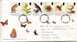 Great Britain Mi# 1723-8 FDC - Fauna And Flora - FDC