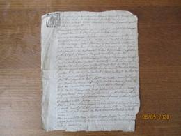 BANCIGNY LE 22 PLUVIOSE SEPTIEME ANNEE REPUBLICAINE ECHANGE ENTRE LOUIS MANNESSE ET JOSEPH GUILLOUARD - Manuscrits