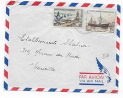 SPM - 1956 - FIDES Sur ENVELOPPE Par AVION De ST PIERRE ET MIQUELON => MARSEILLE - St.Pierre & Miquelon