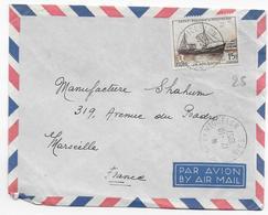 SPM - 1957 - FIDES Sur ENVELOPPE Par AVION De ST PIERRE ET MIQUELON => MARSEILLE - St.Pierre & Miquelon