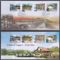 Singapore 2014 Islands Of Singapore-Pulau Ubin, Boardwalk, Wayang Stage, Quarry Lake FDC - Singapore (1959-...)