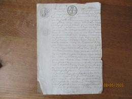 BANCIGNY LE 29 MAI 1824 CEZARD BEGUIN PROPRIETAIRE A BANCIGNY ET JOSEPH FREDERIC GUILLOUART A LAMBERCYONT ECHANGE UNE PI - Manuscrits