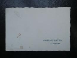 """Carte De Vœux Du """"Cercle Naval De Toulon"""" - Vieux Papiers"""