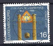 """Luxemburg 1998, Nr. 1459, 150 Jahre Freimaurer-Großloge """"Johannisloge Zur Hoffnung"""" Gestempelt Luxembourg - Used Stamps"""