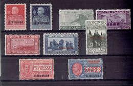 TP  OUTRE DJOUBA - DE 1925 - OCCUPATION ITALIENNE - N° 21 - 22 - 24 - 25 - 26 - 27 - 28  Et ESPRESSO N°1 ET N°2 - Neufs* - Sonstige - Afrika