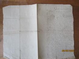 BANCIGNY LE 28 FEVRIER 1819 BAIL PAR CESAR BEGUIN ET MARIE JEANNE GIRARDEAU SON EPOUSE AU SIEUR FRANCOIS COULBEAU A LEMB - Manuscrits