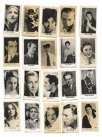 LOT De 20 Images LA PIE QUI CHANTE Format 2.8 X 5 Cm - Artistes - Kaufmanns- Und Zigarettenbilder