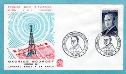 FDC France 1962 - Maurice Bourdet - YT 1329 - Paris - FDC
