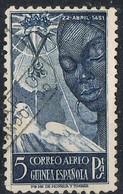 Sello 5 Pts Aereo Isabel La Catolica,  GUINEA Española 1951, Num 305 º - Guinea Española