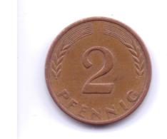 BRD 1971 J: 2 Pfennig, KM 106a - 2 Pfennig