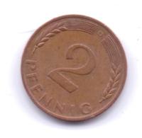 BRD 1970 D: 2 Pfennig, KM 106a - 2 Pfennig