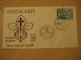 STA. CRUZ DE TENERIFE Islas Canarias 1975 Semana Escultista Expo Scout Cancel Cover SPAIN Scouting Boy Scouts Scout - Lettres & Documents