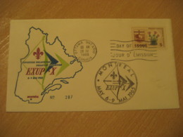 OTTAWA 1965 Exup + X Montreal Expo Scouting ? Cancel FDC Cover CANADA - Lettres & Documents