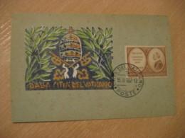 1957 Pope Pius XII Cancel Card Vaticano Poste Vaticane VATICAN Italy - Vatican
