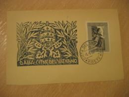 1957  Air Mail 5L Cancel Card Vaticano Poste Vaticane VATICAN Italy - Vatican