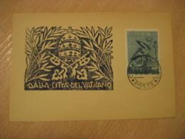 1957 Air Mail 10L Cancel Card Vaticano Poste Vaticane VATICAN Italy - Vatican