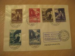 1958 To Munchen Germany Lourdes 6 Stamp On Cancel Cover Vaticano Poste Vaticane VATICAN Italy - Vatican