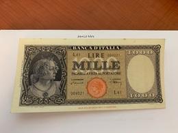 Italy 1.000 Lira  Banknote  1947  #9 - 1000 Lire