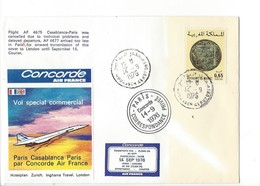 24740 - Concorde AF 4675 Vol Special Air France Commercial Paris Casablanca 14.09.76 London 15.09.76 N° 0348 - Flugzeuge