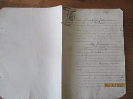 19 MARS 1837 VENTE PAR JEAN FRANCOIS POINT ET MARIE ROSALIE DUCLOS SON EPOUSE A LOUIS MANNESSE PROPRIETAIRE A BANCIGNY - Manuscrits