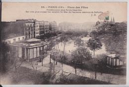 Paris 19e - Place Des Fêtes Précédemment Place Sainte-Geneviève Ancienne Commune De Belleville Kiosque JH 88 - Arrondissement: 19