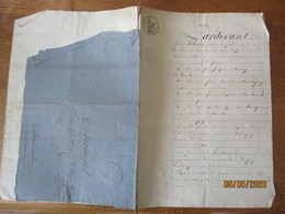 BANCIGNY LE 14 AVRIL 1831 DEVANT JEAN JACQUES MARY,JEAN NICOLAS MARTIGNY,JEAN BAPTISTE BURIDANT,NICOLAS WAROQUAUX TESTAM - Manuscrits