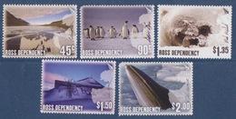 Ross, N° 100 à 104 (lac Chad, Manchots Empereurs, Cabane De Scott, Otarie, Rorqual...) Neuf ** - Neufs