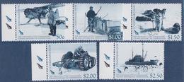 Ross, N° 110 à 114 (Cinquantenaire De L'expédition Trans-antarctique, Avion, Traineau, Chiens, Tracteur, Nav...) Neuf ** - Neufs
