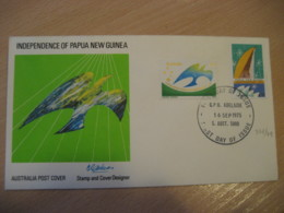 ADELAIDE 1975 Yvert 578/9 Independence Papua New Guinea FDC Cancel Cover AUSTRALIA - FDC