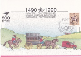 60004 - 1 - Carte Souvenir - Cs - Hk 2350 - Liaison Postale Européenne Innsbruck-Malines - émission Belge - Foglietti