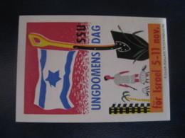 SSU Ungdomens Dag For ISRAEL Denmark Poster Stamp Vignette Label - Autres