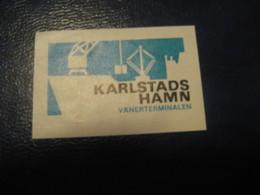 Karlstads Hamn Vanerterminalen Ship Boats Maritime Poster Stamp Vignette DENMARK Label - Schiffe