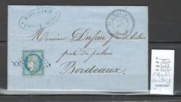 France - Lettre  - SAINT AIGULIN - Charente Inférieure - T22 - 1871 - Poststempel (Briefe)