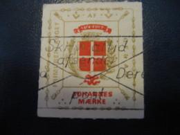 Frimurerlauget AF G.F.&A.M. J Maerke Freemasonry Masonry Masonic Lodge Perces Zigzag Poster Stamp Vignette DENMARK Label - Franc-Maçonnerie