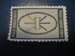 Dansk BRODER Orden Freemasonry Masonry Masonic Lodge Poster Stamp Vignette DENMARK Label - Franc-Maçonnerie