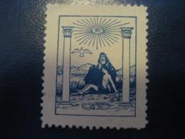 Odd Fellows Order Fellow Ordenen Freemasonry Masonry Masonic Lodge Poster Stamp Vignette DENMARK Label - Franc-Maçonnerie