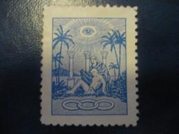 Odd Fellows Order Fellow Ordenen Eye Freemasonry Masonry Masonic Lodge Poster Stamp Vignette DENMARK Label - Franc-Maçonnerie