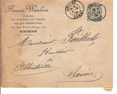 Obl DAGUIN Type Semeuse 15c ,Amiens Pour Alberville Lot 186 - 1903-60 Semeuse Lignée