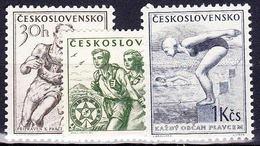 ** Tchécoslovaquie 1954 Mi 856-8 (Yv 765-7), (MNH) - Ungebraucht