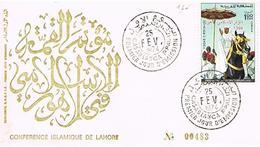 MAROC  ENVELOPPE + TIMBRES + OBLITIRATIONS 1974 TBE  EN 27 - Marokko (1956-...)