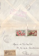 GABON : 1967 - Lettre Recommandée Pour La France - Fleurs - Buffles - Gabun (1960-...)