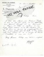 95 - Val-d'oise - BEZONS - Facture HUGUENIN - Menuiserie Pour Autos - 1926 - REF 152B - 1900 – 1949