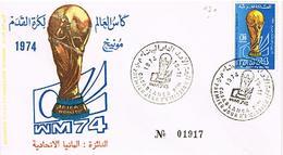 MAROC  ENVELOPPE + TIMBRES + OBLITIRATIONS 1974 TBE  EN 33 - Marokko (1956-...)