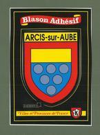CARTE POSTALE BLASON ADHESIF  10 AUBE ARCIS SUR AUBE - Arcis Sur Aube