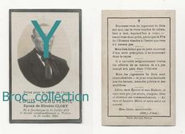 """Dunkerque, Watten, M""""mento Louis Debuysère, 15/07/1924, 53 Ans, Accident, époux De Zénobie Cloet, Souvenir Mortuaire - Images Religieuses"""