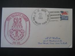 Vereinigte Staaten- Beleg Mit Cachetstempel USS Valley Forge CG 50 - Colecciones & Lotes