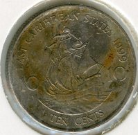 Caraïbes Orientales East Caribbean 10 Cents 1999 KM 13 - East Caribbean States