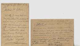 2 Carte-lettre 1892 / 39 CHAMPAGNOLE / BABIE-LAPORTE / Commande De Chaises - 1800 – 1899