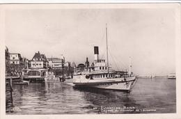 EVIAN-LES-BAINS -  DEPART DU COURRIER (bateau) De LAUSANNE - Evian-les-Bains